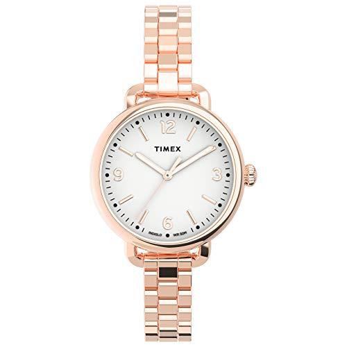 Timex Women's Standard Demi 30mm Quartz Stainless Steel Strap, Rose Gold, 10 Casual Watch (Model: TW2U60700VQ)