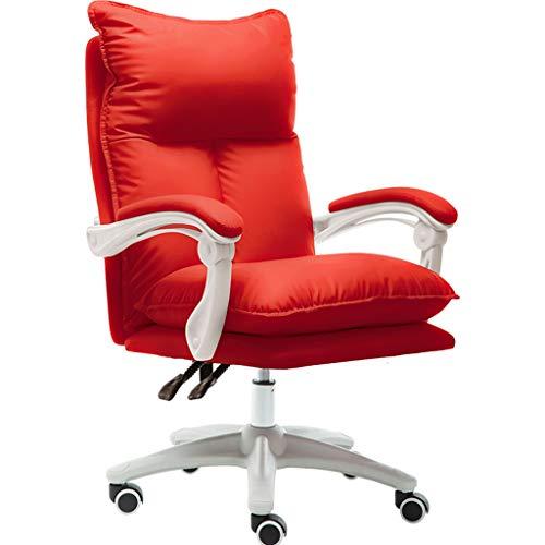 silla De Computadora Rosa Cómoda Sedentaria Respaldo para El Hogar Juegos Jefe Reclinado Giratoria De Oficina Vivo Sensación De Estar Súper Suave
