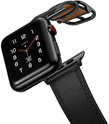 amBand Leather Band Compatible with Apple Watch 42mm 44mm Genuine Leather Vintage Replacement product image