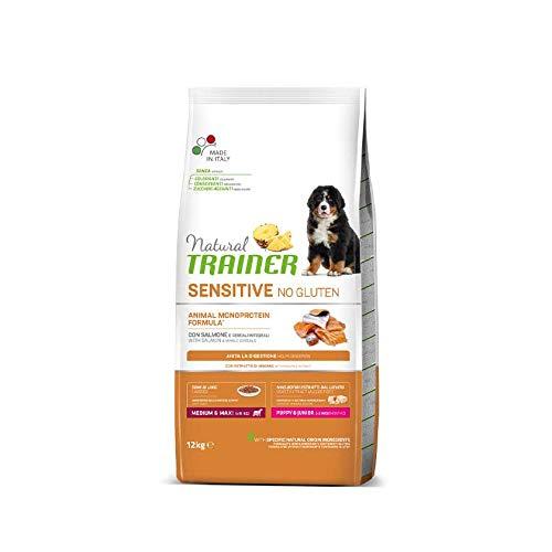 Trainer Natural Sensitive No Gluten Medium & Maxi Puppy & Junior con Salmone 12 kg