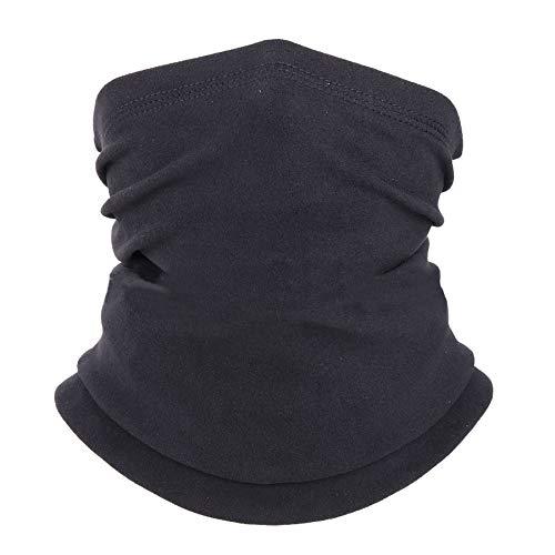 TownCat Plus Bandana-Stirnband aus Spandex, multifunktionaler Sonnen-UV-Schutz Warmhalten Sturmhaube, elastische Kopfbedeckung, atmungsaktives Snood, für Camping, Laufen, Motorradfahren (Schwarz)