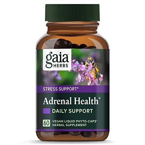 Gaia Herbs Adrenal Health, 60 Liquid-Filled Veg Capsules, Bottle