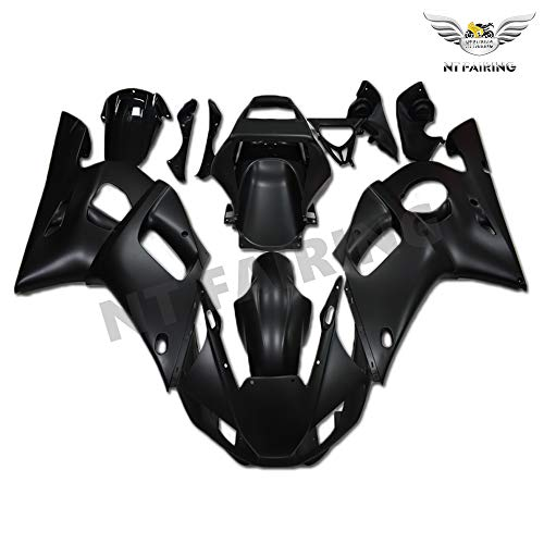 NT FAIRING New Matte Black Injection Mold Fairing Fit for Yamaha 1998-2002 YZF R6 1999 2000 2001 Painted Kit ABS Plastic Motorcycle Bodywork Aftermarket