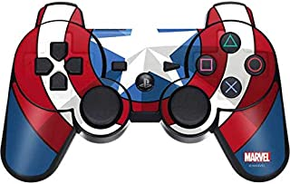 Skinit Decal Gaming Skin for PS3 Dual Shock Wireless Controller - Officially Licensed Marvel/Disney Captain America Emblem Design