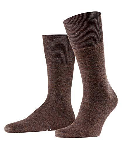 FALKE FALKE Herren Socken Airport, mit Merinowolle und Baumwolle, Business Socken zum Anzug, Braun (Dark Brown 5450), 43-44, 1er Pack