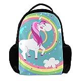 TIZORAX - Mochila de Unicornio en Colores arcoíris para la Escuela, Universidad,...