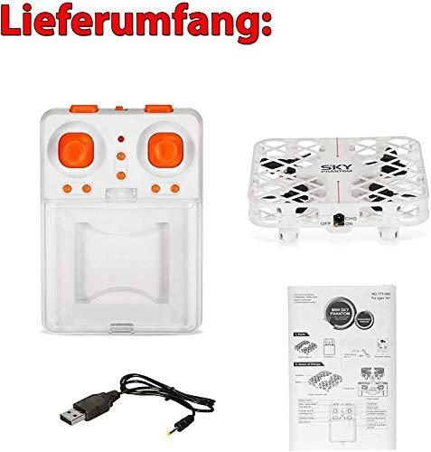 4.5-Kanal mini RC ferngesteuerter Flying-Ball, Drohne, Quadcopter, Hubschrauber mit Schutzkäfig, 2,4Ghz Modell mit vielen Besonderheiten, Komplett-Set inkl. Crash-Kit