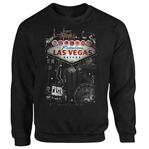 Tex-Ha Las Vegas Casino Roulette USA schwarz Sweatshirt Pullover (M)