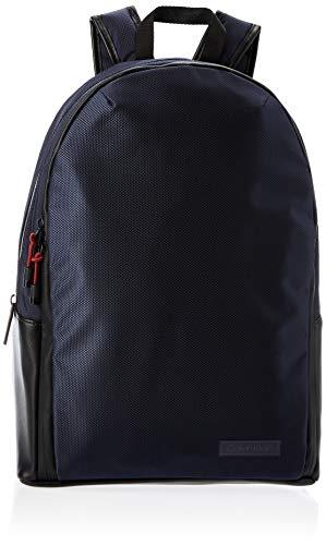 Calvin Klein - Revealed Round Backpack, Shoppers y bolsos de hombro Hombre, Azul (Navy), 0.1x0.1x0.1 cm (W x H L)