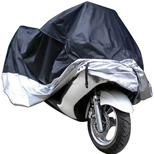 FCZBHT Couverture de Meubles Moto/Voiture De Batterie Housse De Protection, Crème Solaire/Imperméable Garde poussière (Couleur : Black+Silver, Taille : 295 * 110 * 140cm)