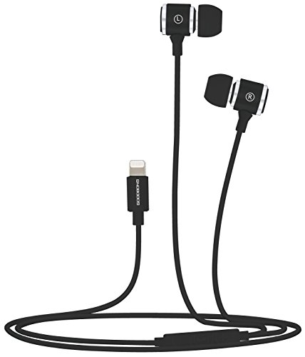 GOODBONGin-Ear Headphones Compatible with iPhone 11 Pro iPhone X/XS Max/XR iPhone 8/8 Plus iPhone 7/7 Plus, MFi Certified Earbuds with Microphone Controller Wired Earphones(Metal Black)