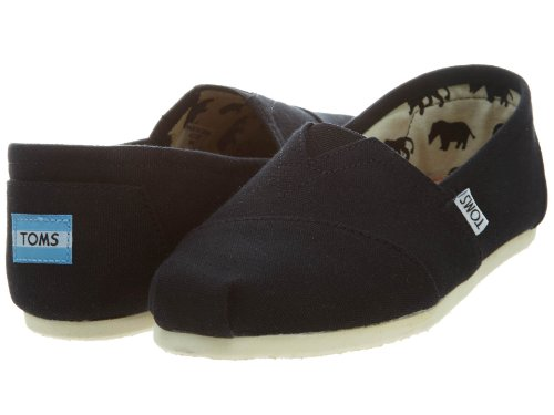 TOMS Men's Classic Canvas Slip On 001001A07-BLK-FBA1 (9US) Black/White