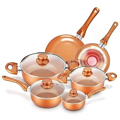 Cookware-Set Nonstick Pots and Pans-Set Copper ...