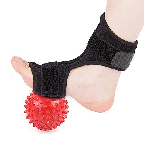 BAYCHEER Plantar Fasciitis Night Splint-Adjustable Brace Support Night Splints for Right or Left Foot. Support Sleep, Arthritis, Tendonitis, Dorsiflexion, Heel Calf Stretcher and Spiky Massage Ball