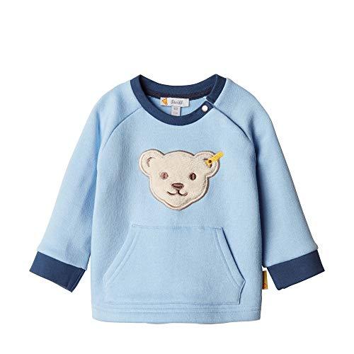 Steiff Baby-Jungen Sweatshirt, Blau (CHAMBRAY BLUE 6035), 68 (Herstellergröße:68)