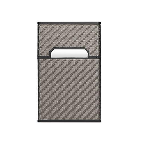 RUI - K25 Pitillera De PU Protector De Caja De Cigarrillos Interruptor Magnético Impermeable Y Resistente A La Presión Estuche De Cigarrillos Que Se Puede Manejar con Una Mano