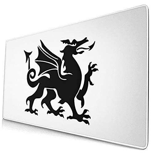 Wales - Alfombrilla de ratón con diseño de dragón galés para computadoras...