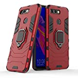 Cocomii Black Panther Ring Huawei Honor View 20/Honor V20 Case, Slim Thin Matte Vertical & Horizontal Kickstand Ring Grip Protection Bumper Cover Compatible with Huawei Honor View 20/Honor V20 (Red)