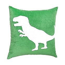 7. Amazon Basics Kids Dino Squad Decorative Pillow