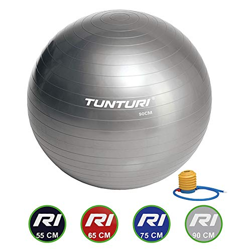 Tunturi Gymball 90cm, Silver Gymnastikball, Silber, one Size