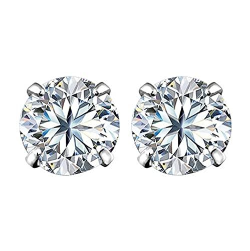 Earring Crystal Zircon Stud Earrings For Women Men 3mm 4mm 5mm 6mm 7mm