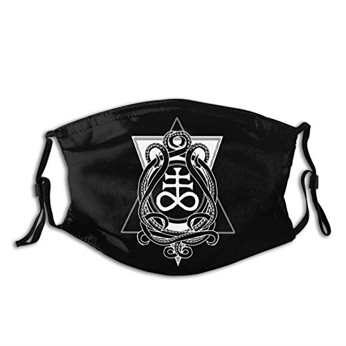 Leviathan Cross and Tentacles Satanic Outdoor Mask,Protective 5-Layer Activated Carbon Filters Adult Men Women Bandana