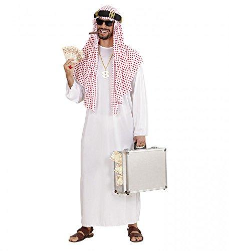 shoperama Arabischer Scheich Herren Kostüm Araber Orient Sultan Öl-Scheich, Größe:M/L
