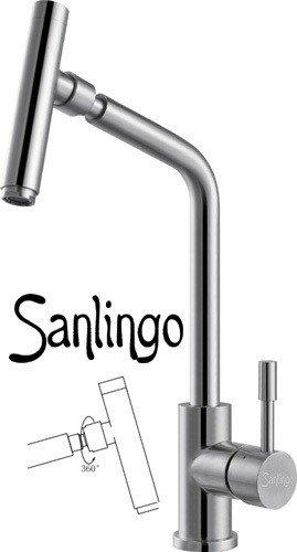 Sanlingo - Edelstahl-Küchenarmatur mit 360° Schwenkauslauf