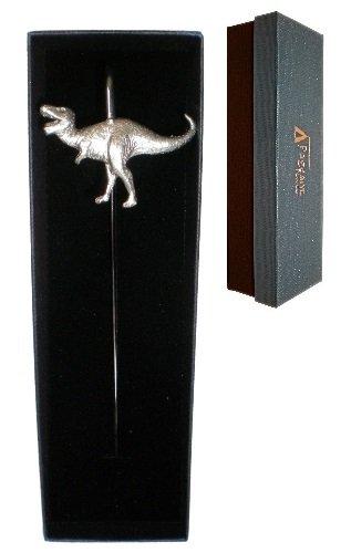 T REX DINOSAUR lucido-Segnalibro in peltro in scatola regalo, prodotto in Inghilterra