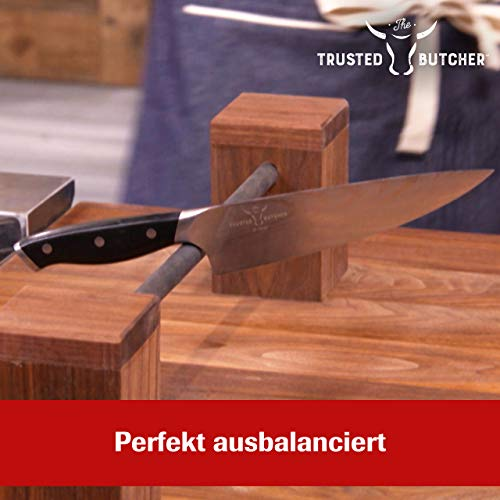 Mediashop Trusted Butcher Messer Set – hochwertiges Profi Kochmesser Set – ultrascharfe Klingen in Metzger-Qualität – inklusive Bratenthermometer – 4-TLG. | Versand Edition in neutraler Verpackung - 2