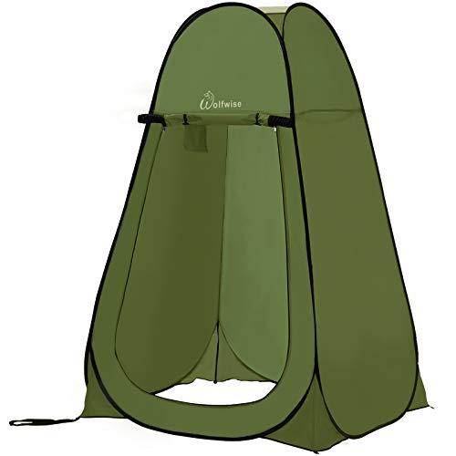 WolfWise Pop up Toilettenzelt Umkleidezelt, Camping Duschzelt Outdoor Mobile Toilette Umkleidekabine Lagerzelt