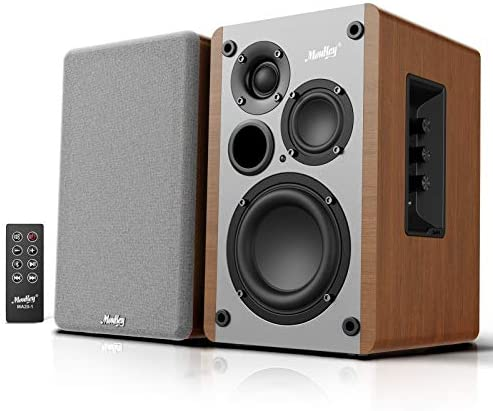 Moukey 4 2 1 3 Way Powered Bluetooth 5 0 Bookshelf Speakers 2 0 Stereo Active Near Field Studio product image