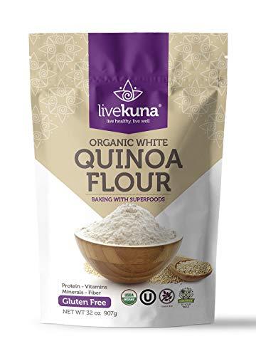 LiveKuna, Organic White Quinoa Flour, Superfoods, 32 oz
