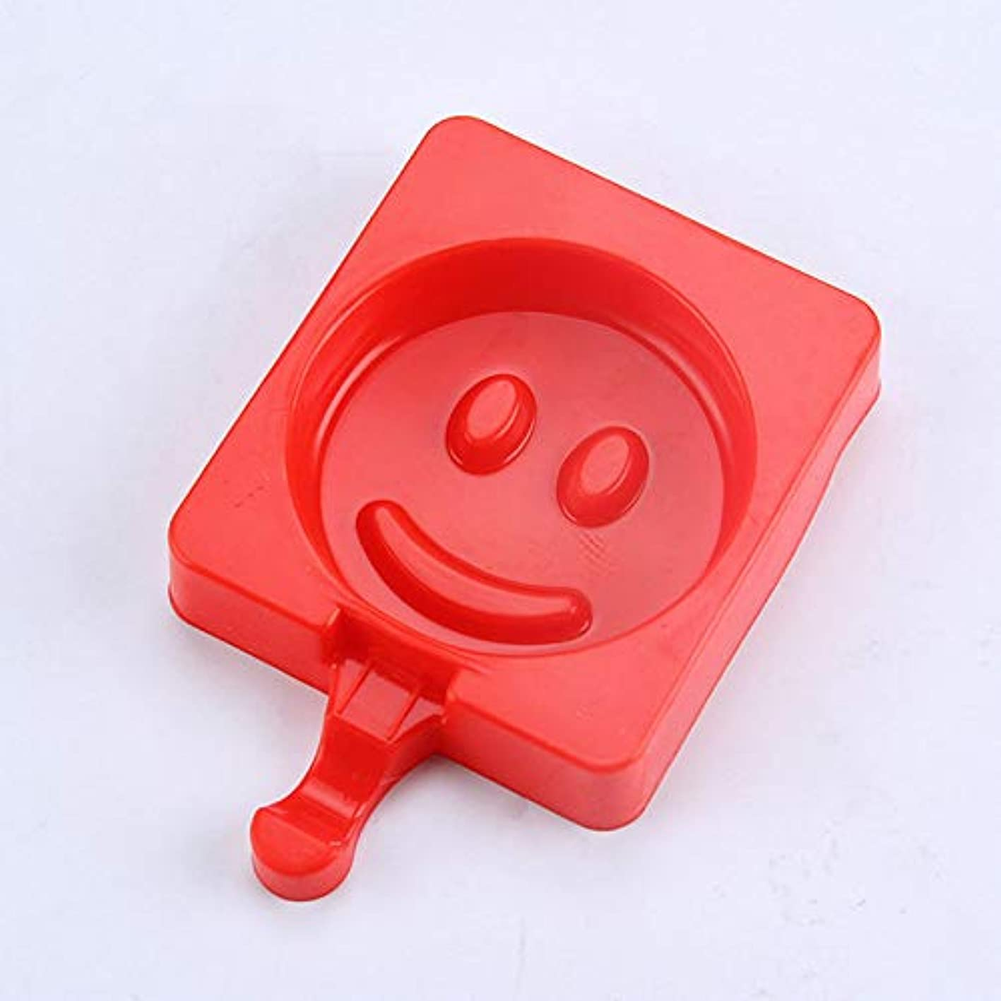 1 Set AMW Smile Face Ice Cream Mold Silicone Ice Lolly Mold with 20pcs Wood Popsicle Sticks Candy Bar Accessories cbmqsnfruor161