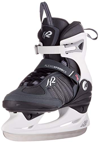 K2 Skates Damen Schlittschuhe Alexis Speed Ice — black - white — EU: 39 (UK: 5.5 / US: 8) — 25C0080