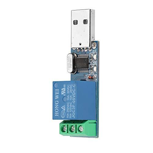 Módulo De Relé De Control USB MCU PC Interruptor De Control Inteligente USB Módulo De Relé De Bloqueo Automático Jog
