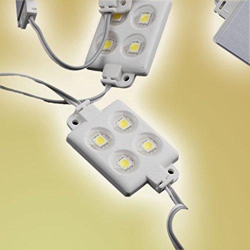 Mextronic LED-Module-Set in IP65: 20x LED Module 4xPower SMD LEDs Warmweiß Wasserdicht 12V