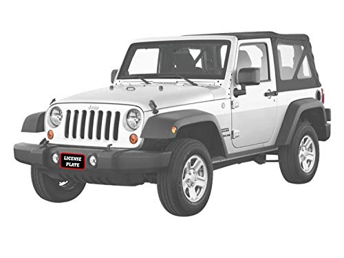 STO N SHO Front License Plate Bracket for 2008-2018 Jeep Wrangler JK with Plastic Bumper