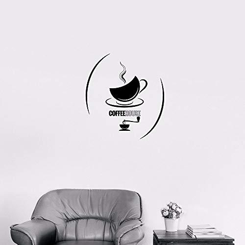 yaonuli Een kop thee koffiehuis decoratieve applicatie warme dranken vinyl muursticker keukencafé moderne decoratie sticker