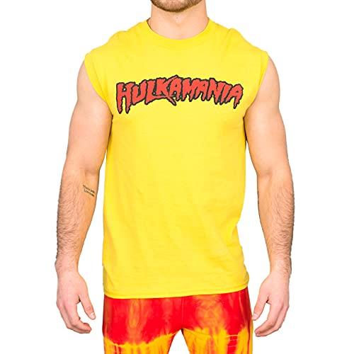 Hulk Hogan 'hulkamania' Sleeveless T-shirt Gold [Apparel] Size: XX-Large