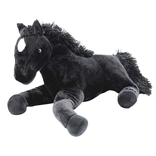 Sweety Toys 5185 XXL Plüsch Pferd Fohlen schwarz