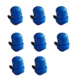 UTDKLPBXAQ 8pcs / Set Trampolín Cama de Salto Tapa de Tubo de plástico Sombrero Azul Barandilla Cubierta Superior Cubierta de Columna Tapa de trampolín con Tapones de Poste de Tornillo de Pulgar para