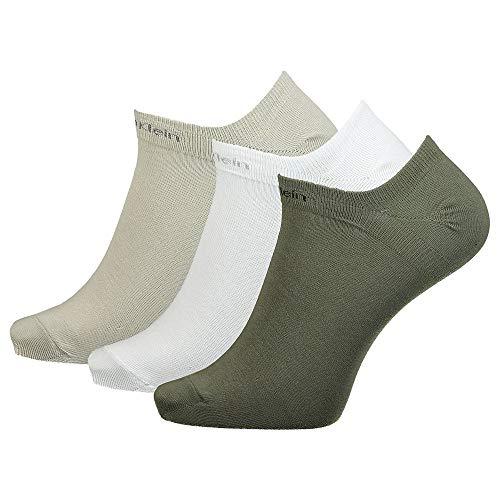 Calvin Klein Socks Herren Sneakersocken Ecl376, 3er Pack, Black, 40/46 calze, Combo Verde, One Size Uomo