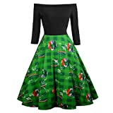 Cuteelf Karnevalsparty Fancy Festival Zubehör,St. Patrick's Day Damen Abend Print Party Prom Swing...