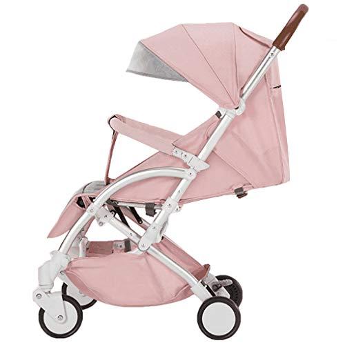 KIVEM Pushchairs kinderwagens voor peuters, lichtgewicht kinderwagen, compacte baby-buggy met ligpositie, kinderwagens voor pasgeborenen, van geboorte tot 25 kg, UV-bescherming luifel, vijfpunts harnas, geweldig voor vliegtuig