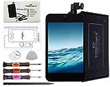 Trop Saint® Pantalla Negro Compatible con iPhone 5C - Kit de reparación LCD Completo - con Guía 5 lenguas, Superficie de Trabajo magnética y Herramientas
