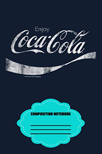 Coca-cola Vintage White Enjoy Logo Graphic Notebook: 120 Wide Lined Pages -...