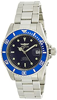 Invicta Men s Pro Diver 40mm Stainless Steel Automatic Watch with Coin Edge Bezel Silver/Blue  Model  9094