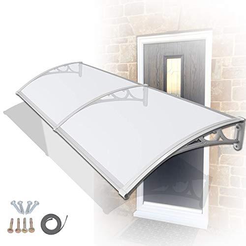 Marquesina Puertas Exterior, Tejadillo Patio Protección Claro Policarbonato Cubrir Bloque UV Resistente A La Lluvia para Gastos Generales Patio Balcón MYAN (Size : 60cm x 60cm)