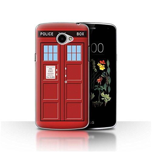 Hülle Für LG K5/X220 Tardis Handyzelle Kunst Rot Design Transparent Ultra Dünn Klar Hart Schutz Handyhülle Hülle